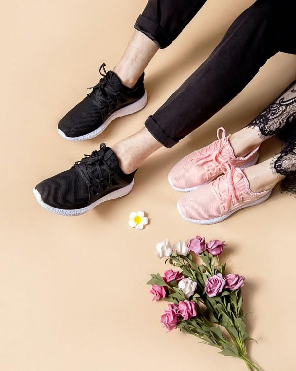 로우탑 블랙/핑크 커플 스니커즈