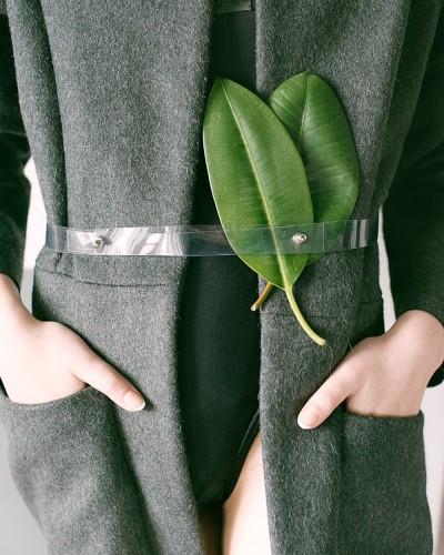 울 혼방 슬릿 핸드메이드 코트